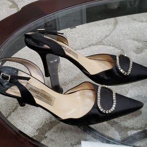 Jimmy Choo size 381/2 (81/2) black heels